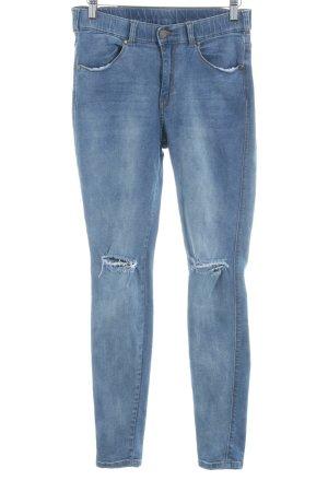 DRDENIM JEANSMAKERS Skinny Jeans graublau Destroy-Optik