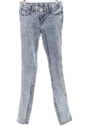 DRDENIM JEANSMAKERS Stretch Jeans dunkelblau-blassblau Used-Optik