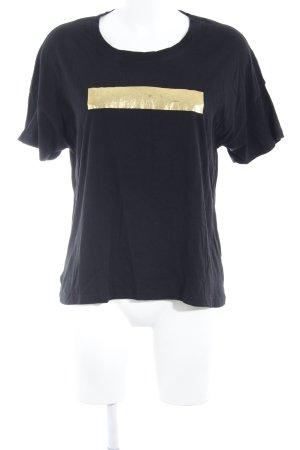 DRDENIM JEANSMAKERS T-Shirt schwarz Motivdruck schlichter Stil