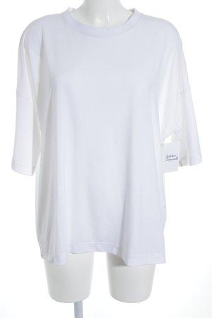 DRDENIM JEANSMAKERS T-Shirt weiß schlichter Stil