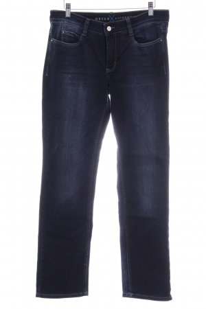 Dream Jeans Tecno by MAC Straight-Leg Jeans dunkelblau-wollweiß Casual-Look