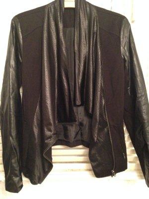 Dreapy-Blazer Materialmix schwarz Gr. M