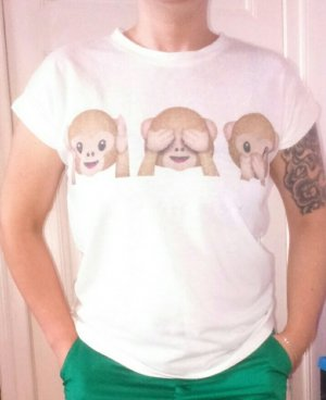 drei Äffchen Shirt Emoji