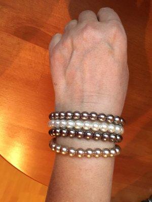 Drei Armbänder mit Kugeln, Modeschmuck
