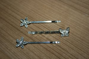 Hair Accessory white-silver-colored