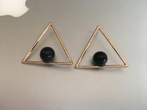 Dreieck Ohrringe Perle Blogger Triangle NEU