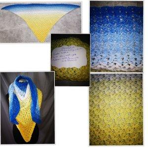 dreieckstuch Farbverlaufsgarn Schal Tuch Handarbeit