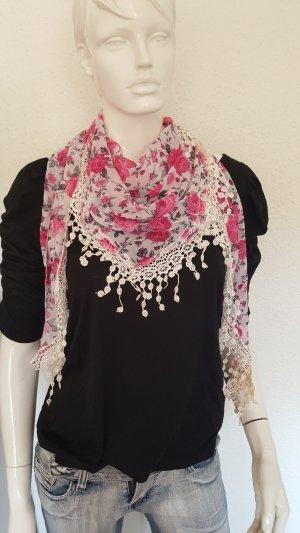 Pañoleta blanco-rosa