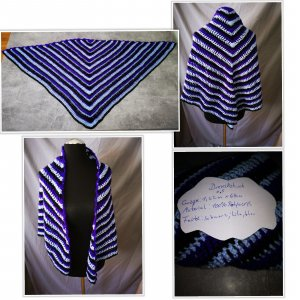 Shoulder Scarf blue