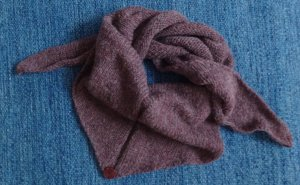 Knitted Scarf grey lilac wool