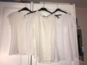 Dreier Set Tshirts in weiß