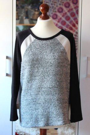 Dreifabiger Primark Pullover grau schwarz 36 38 S Winter warm