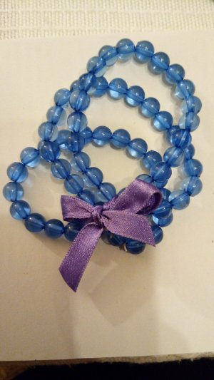 Bracelet lilac-blue synthetic material