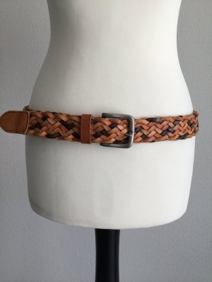 Benetton Braided Belt multicolored leather
