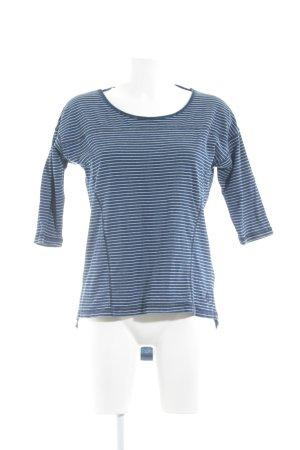 Dreimaster Longsleeve dunkelblau-weiß Streifenmuster Casual-Look