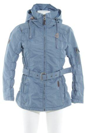 Dreimaster Veste d'extérieur bleu pâle-brun style mode des rues