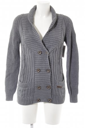 Dreimaster Strickjacke grau Casual-Look
