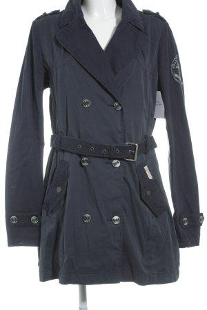 Dreimaster Trenchcoat dunkelblau Casual-Look