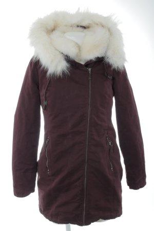 Dreimaster Winterjacke purpur-wollweiß Casual-Look
