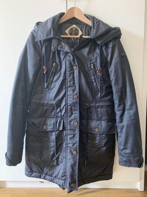 Dreimaster Abrigo de invierno azul oscuro