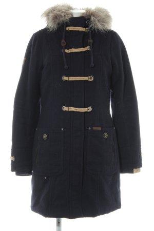 Dreimaster Winterjas donkerblauw-beige casual uitstraling