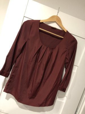 Only Glanzende blouse bordeaux