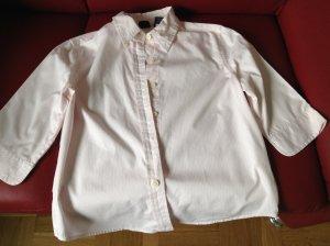 Dreiviertel Arm Bluse rosa weiß gestreift, GAP