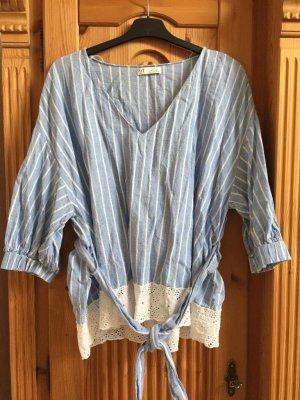 Zara Linnen blouse veelkleurig