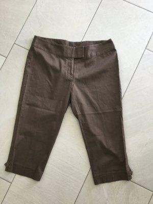 H&M Pantalón pirata marrón Algodón