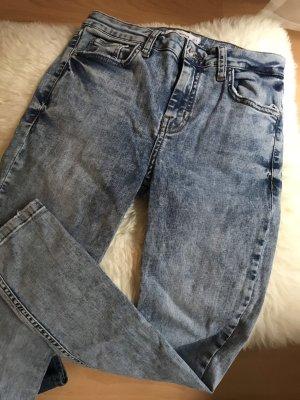 Mango Jeans 3/4 bleu azur