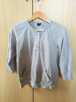 Dreiviertel Pullover mit Knöpfen