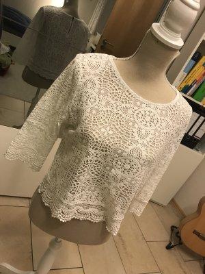 Dreiviertel Shirt in weiß