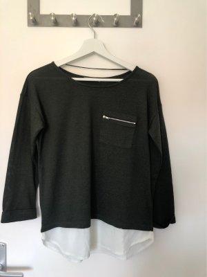 Atmosphere Boatneck Shirt white-dark green