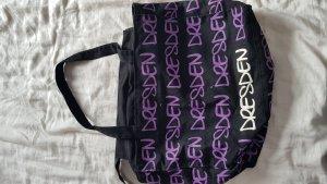 Sac porté épaule noir-violet foncé
