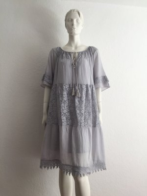 Dress Cotton Light Grey Onesize New