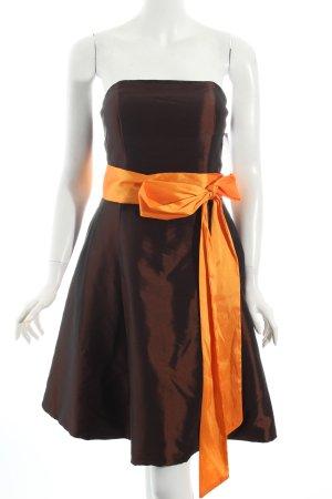 Dress First Cocktailkleid braun-orange Party-Look