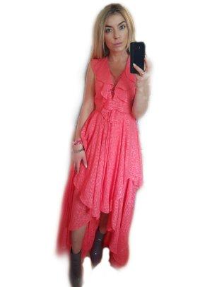 Y.O.U. Volante jurk roze