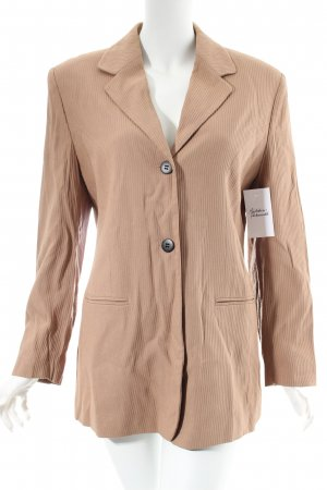 Dress In Long-Blazer beige Streifenmuster Brit-Look