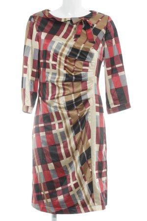 Dresses Unlimited Avondjurk geruite print casual uitstraling