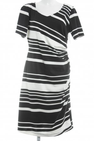 Dresses Unlimited Abendkleid schwarz-weiß Streifenmuster Elegant