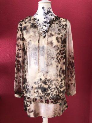 Dresses Unlimited gemusterte transparente Chiffon Schlupf Bluse