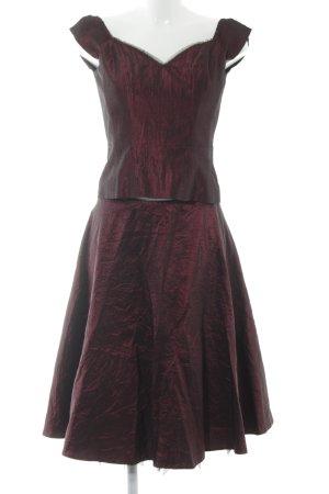 "Dresses Unlimited Kostüm ""Oberteil & Rock"" bordeauxrot"