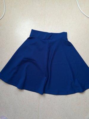 Falda acampanada azul