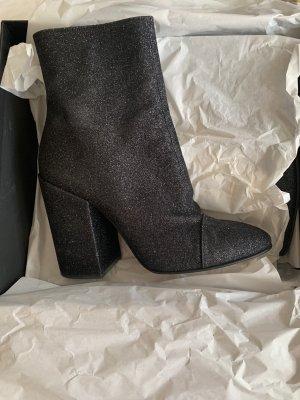 Dries van Noten Black Glitter Boots