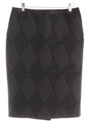 Dries van Noten Bleistiftrock schwarz grafisches Muster extravaganter Stil