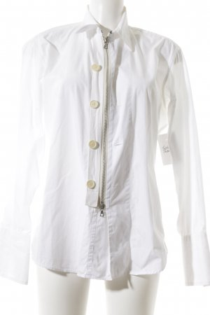 Dries van Noten Hemd-Bluse weiß Business-Look