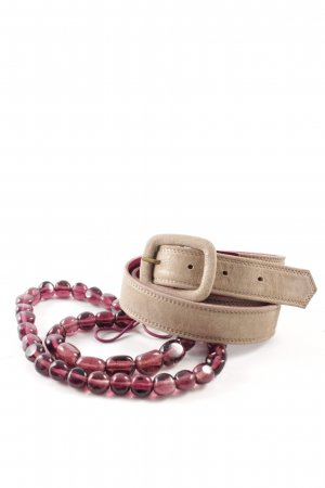 Dries van Noten Leather Belt light brown-blackberry-red extravagant style