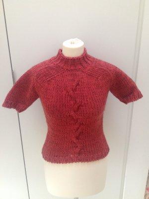 Dries van Noten Short Sleeve Sweater bright red