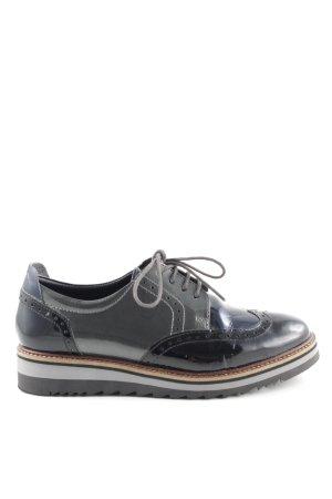 Drievholt Budapest schoenen zwart-bruin klassieke stijl