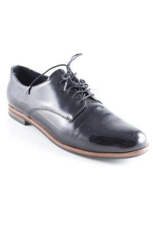 Drievholt Oxfords black leather-look